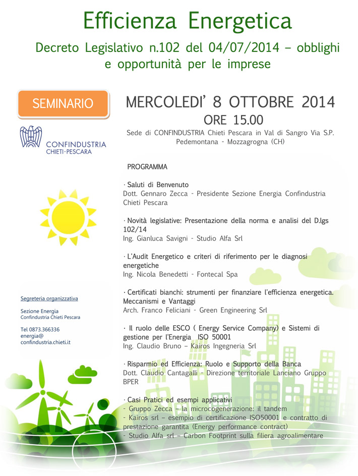 Seminario EFFICIENZA ENERGETICA